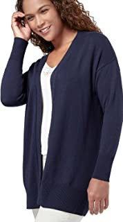 a7bc6ae8975 Womens Cashmere and Cotton Edge to Edge Knitted Cardigan