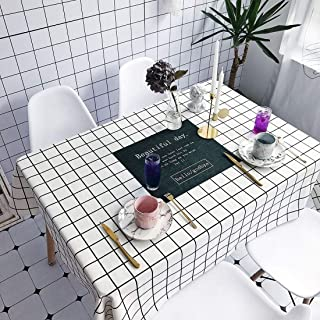 Simple Modern kitchen/home tools Beautiful Pattern Waterproof Anti-scalding Rectangle Cotton and Linen Table Cloth,Simple ...
