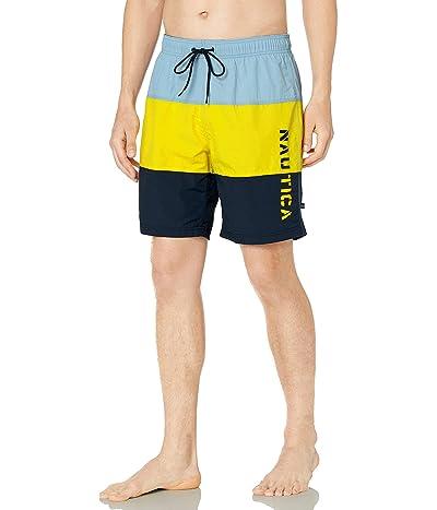 Nautica Quick Dry Classic Logo Tri-block Series Swim Trunk
