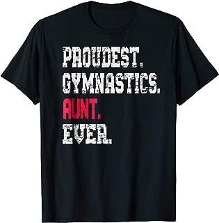 Custom Gymnastics Aunt TShirt, Cute Gymnast Shirt
