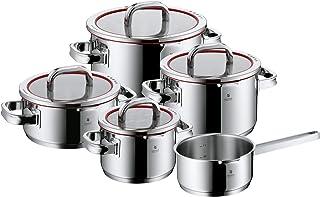 WMF Kastrull Set med Lock, Rostfritt Stål, Silver, Paket med 5 Delar