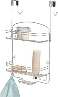 iDesign Weston Medium Metal Over the Door Hanging Shower Caddy, Bath Organizer Holds Shampoo, Razors, Conditioner, Soap, S...