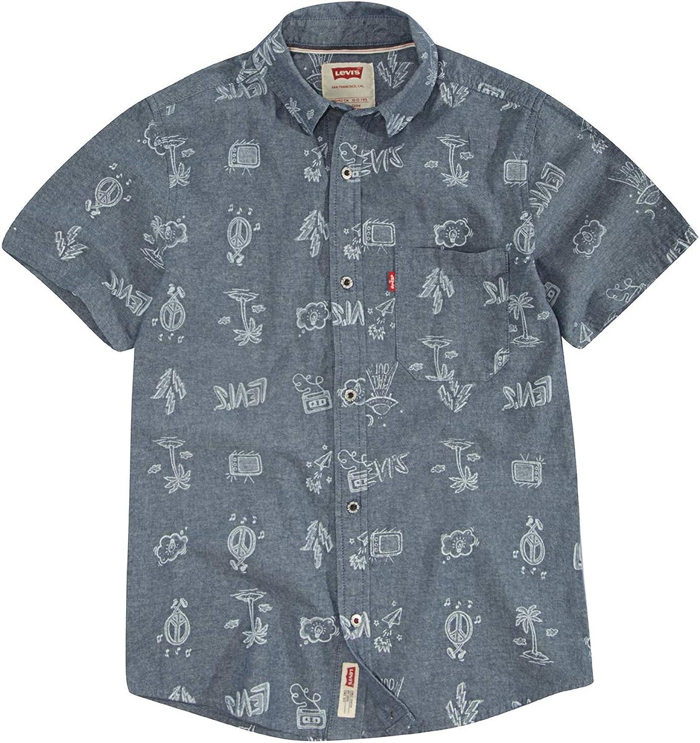 Levi's Boys' Short Sleeve Button Up Shirt