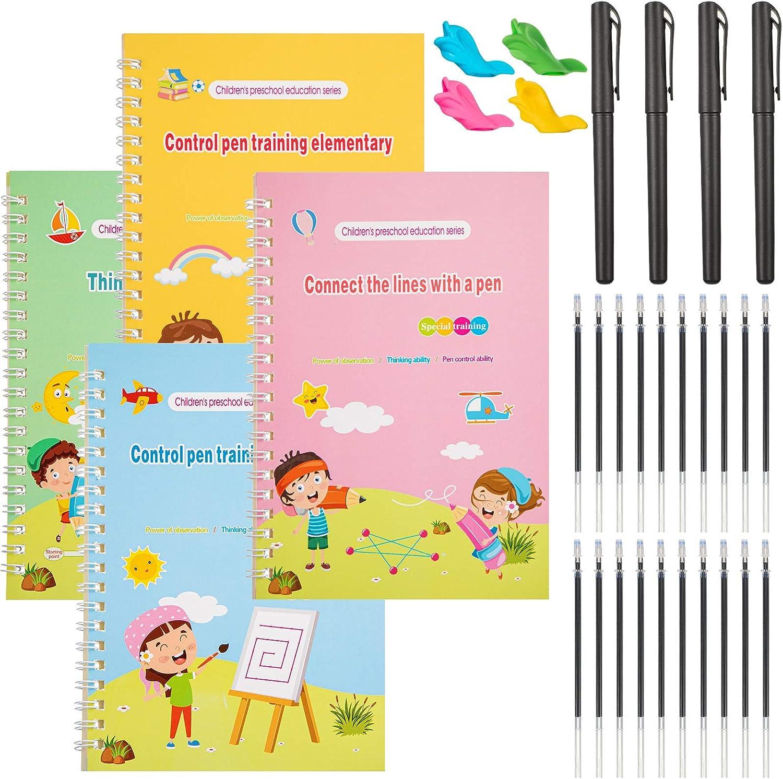 4 Pieces New item English Magic Practice Max 55% OFF Reusable Copybook Calligrap Kids