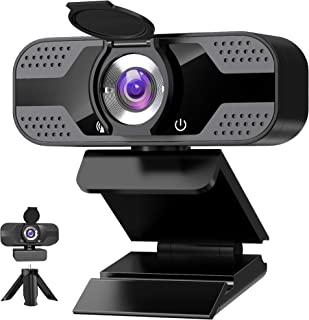 Webcam 1080P Full HD con Micrófono Y cubierta de privacidad, USB Web Camera Con trípode, para Mac Windows Portátil Videoll...