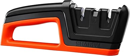 SHARPAL 206N 3-in-1 Kitchen Chef Knife & Scissors Sharpener, Sharpening Tool for Straight & Serrated Knives, Repair and Hone Blades, Fast Sharpen Scissor