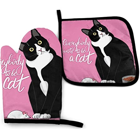 Cat Pot Holders Quilted Cat Hot Pads set of 2 Cat Lovers Gift Cat Hot Pads Unique Cat Potholders Gift Set