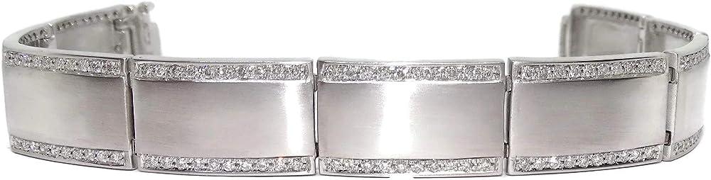 Never say never bracciale in oro bianco e diamanti 1.90 ct per uomo o donna 95795005