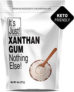 It's Just - Xanthan Gum, Nothing Else, Non-GMO, Made In USA, Keto Friendly Baking, 8oz