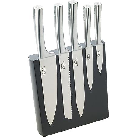 Pradel Jean Dubost 18522 Bloc Météor Façon Wengé + 5 Couteaux de Cuisine