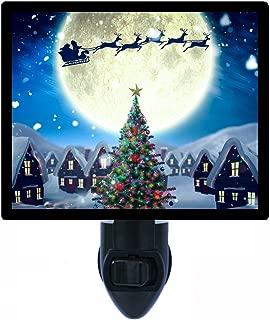 Night Light, Santa's Moon, Christmas, Flying Sleigh