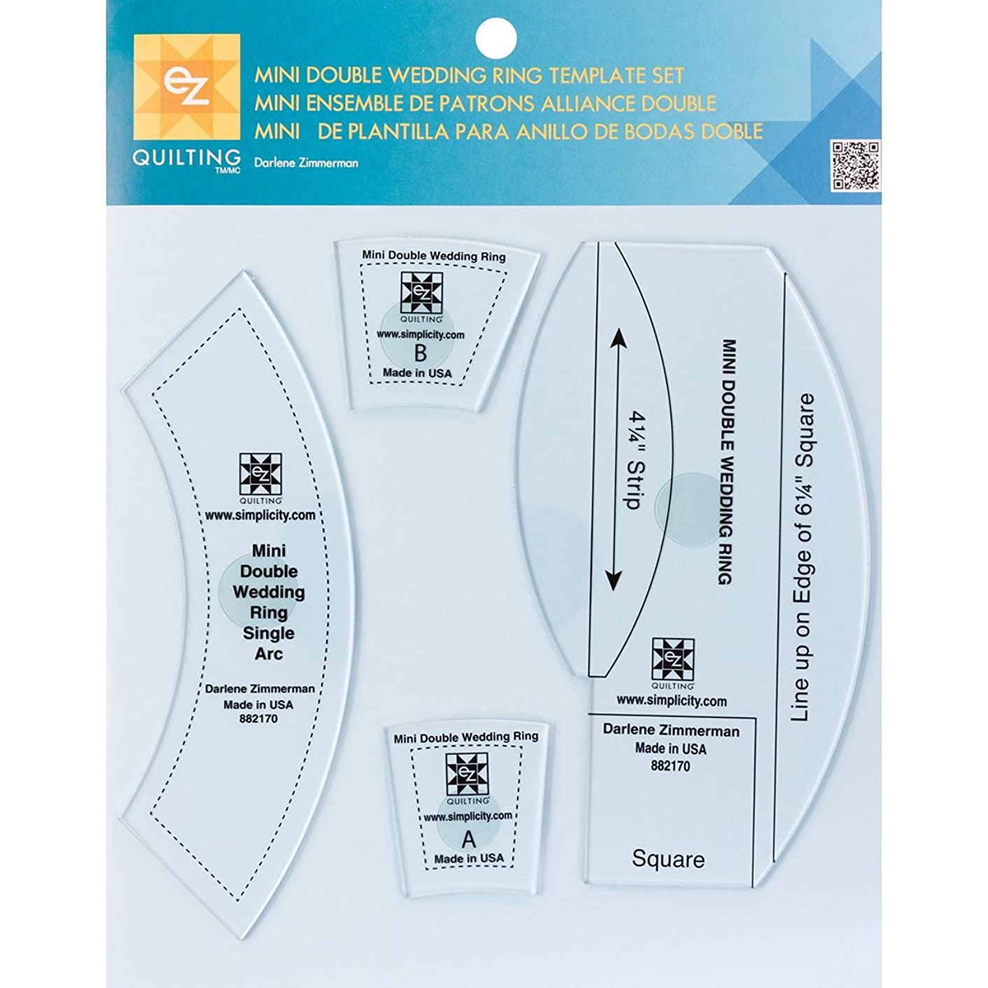 Wrights Mini Double Wedding Ring Template Set