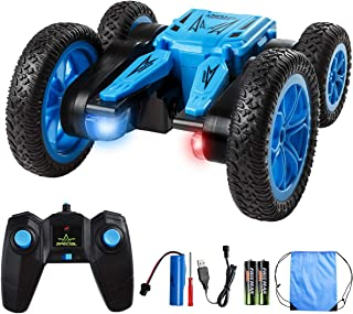 Remote Control Stunt Car Toy, 4WD RC Cars Double Sided Rotating Vehicles 360° Flips to Bloom, 2.4GHz High Speed Rechargeab...