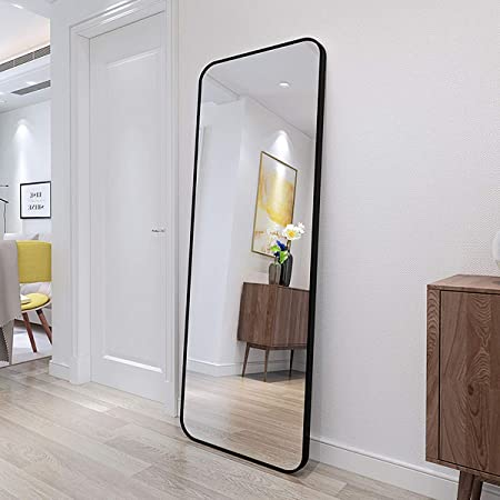 Gold, Slim Lip Full Length Wall Mirror Size 65 x 21 Metal Frame Upland Oaks Large Full Length Body Mirror for Floor /& Wall in Bedroom Big /& Tall Long Mirror for Leaning