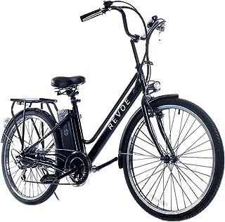 Revoe e-bike, citybike cerchi in lega, 26``, velocità massima 25 km/h, 45 km di autonomia