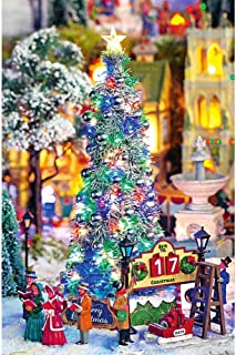 Lemax New Majestic Xmas Tree; with Sights and Sounds; Xmas Tree Lights Up with Either Flashing Lights or Steady Lights; Dimensions: 13.27 x 6.30  x 6.06 Inches