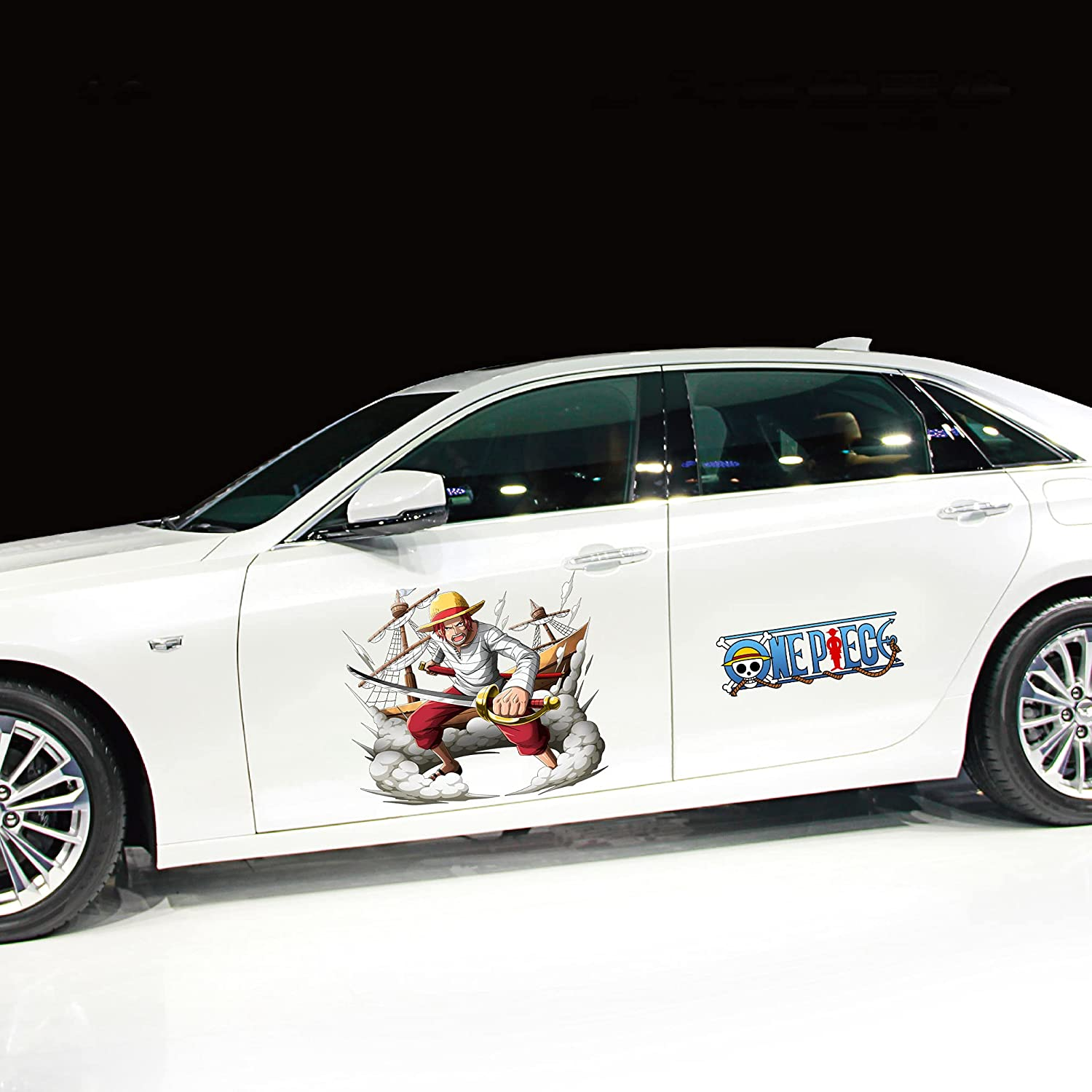 Animated Car Stickers One Piece: Portgas Max Max 66% OFF 84% OFF D Waterproof ACE ·