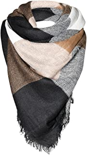Caramel/Black/Cream Women Fashion Warm Winter Blanket Scarf FunkyMonkey Fashion