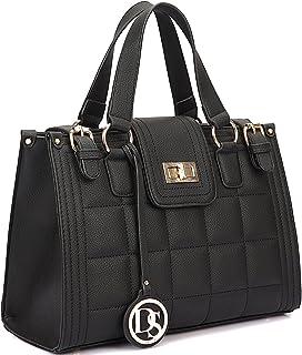 Women Quilted Satchel Top Handle Handbags Purses Shoulder Bag Tote