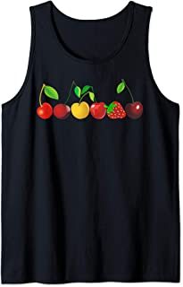 Cherry Gift for Fruit Lovers of Bing Cherries - Red & Sour Tank Top