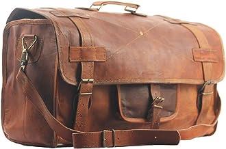 Bolso de viaje SBazar, de cuero, para hombre, de 50 cm, ideal para viajar o ir al gimnasio