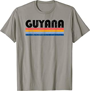 Vintage 70s 80s Style Guyana T-Shirt