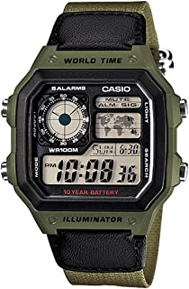 Casio Men's Digital Dial Resin Band Watch - AE-1200WHB-3B