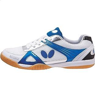 حذاء تنس Butterfly Trynex Table - حذاء أنيق من أجل Ping Pong - المقاسات 4. 5-10 - أبيض/أزرق أو أبيض/أبيض/أبيض/أبيض/أبيض/أح...