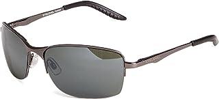 Eyelevel - Crete - Gafas de sol para hombre con montura cuadrada, color gris oscuro, talla única