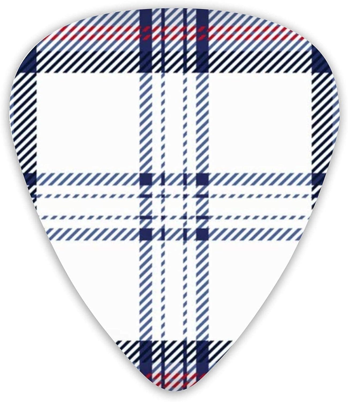 Guitar Picks Navy Blue Red Tartan Scotland Premium Memphis Mall Sampler Cheap mail order shopping