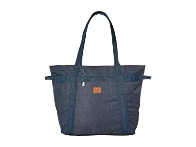 Herschel Supply Co. Alexander Zip (Indigo Denim Crosshatch) Tote Handbags