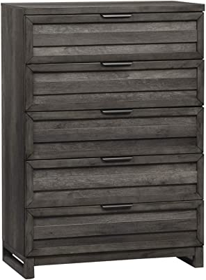 Laguna 5 Drawer Dresser Chest Black Wood Grain Bedroom Furniture Furniture Decor