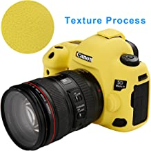 STSEETOP Canon 5D Mark IV Camera Case, Professional Silicone Rubber Camera Case Cover Detachable Protective for Canon 5D Mark IV (Yellow)