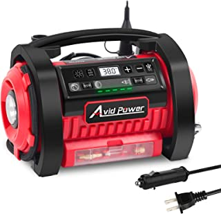 AVID POWER Tire Inflator Air Compressor, 12V DC / 110V AC Dual Power Tire Pump with Inflation and Deflation Modes, Dual Po...