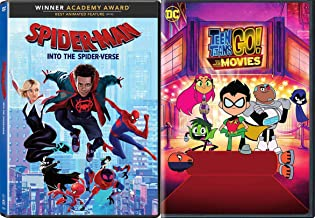 When The Street Smart Marvel Kid Gets Together W/ The Goofballs Of DC Comics: Teen Titans Go! To The Movies + Spider-Man Into The Spider-Verse 2 Movie Bundle