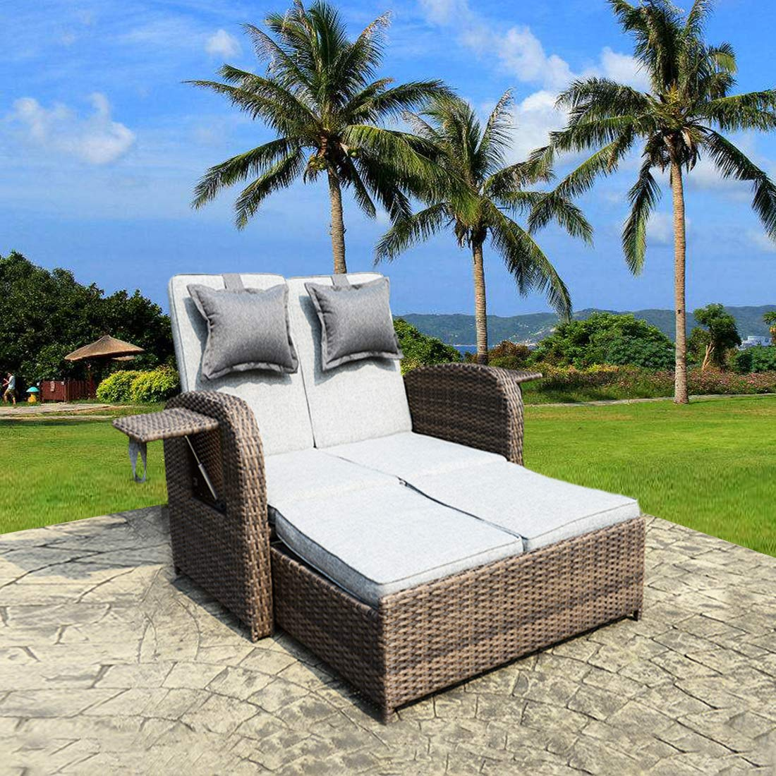 Loveseat Outdoor Wicker Furniture Cushions
