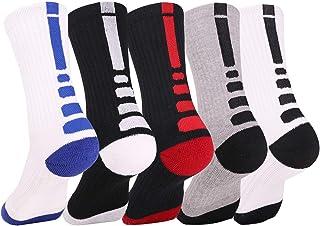 Elite Basketball Socks, Cushioned Athletic Sports Crew Socks for Men & Women