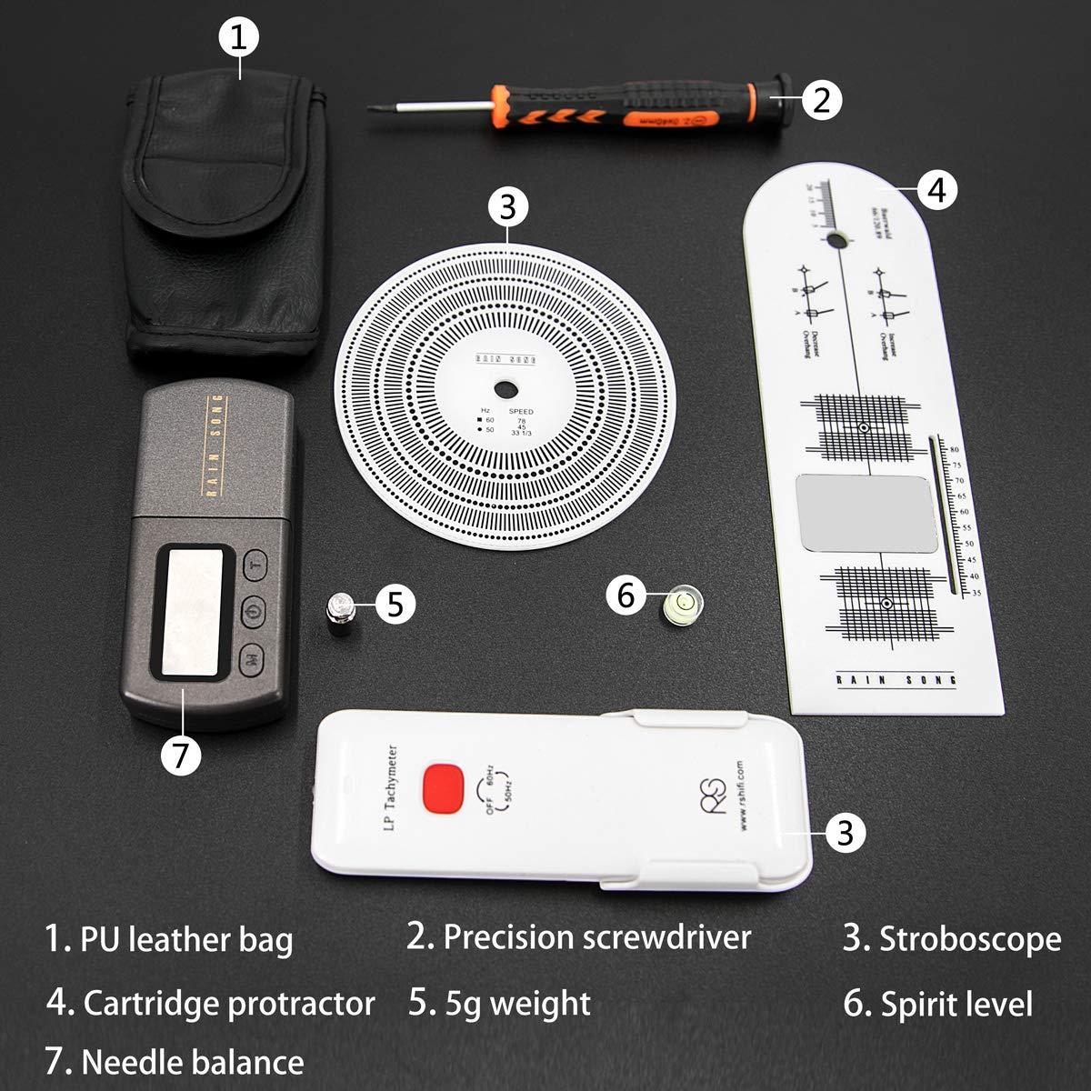 MPK Turntables Adjustment Tool Kits Professional HiFi Turntable Scale Stylus Cartridge Alignment Protractor Tools.