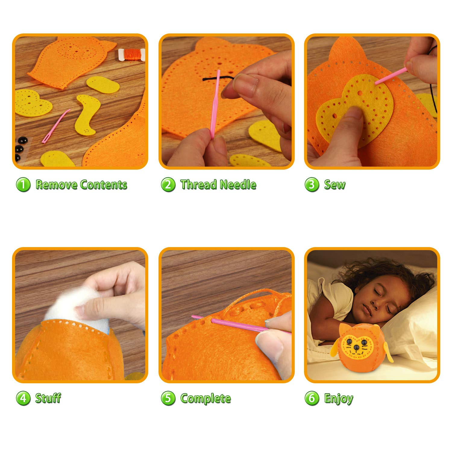 DIY Lovely cat hand-stitched hand sewing cloth material Kit PA-747 Japanese Craft Kit