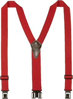 Dickies Heavy Duty Clip Suspenders - Men's Adjustable Y Back Straps with Clips for Work Pants