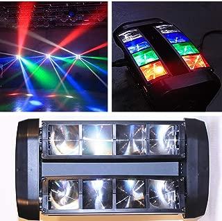 Boryli 8x3W RGBW LED DMX512 DJ Moving Head Light Rotatable Beam Spider Light for Stage Light Disco DJ Easter Party Wedding KTV Bar Club(7/13CH)