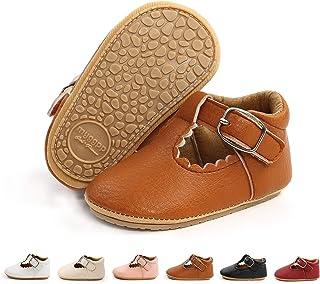 کفش نوزاد دخترانه BEBARFER نوزاد ماری جین فلتس ضد لغزش کفش سفید سفید
