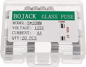 BOJACK 5x20mm 4A 4amp 125V 0.2x0.78 Inch F4AL125V Fast-Blow Glass Fuses(Pack of 20 Pcs)