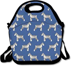 Schnauzer Dog Lunch Bag Lunch Tote Lunch Pouch Handbag Made for Women, Men and Kids