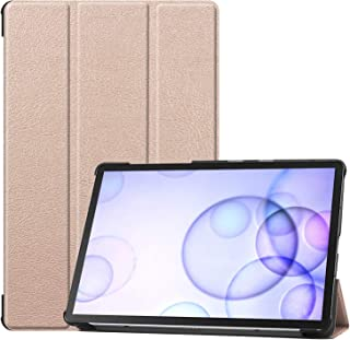 Starabu for Sumsung S6 TAB S6 10.5Inch T860 Fall Resistant 3Folding Smart Stay Laptop Protective Case Gold TAB S6 2019 T860