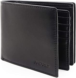 Sponsored Ad - ANDOILT Bifold Wallet for Men Genuine Leather RFID Blocking Stylish with High Capacity Card 18 Holds Coin P...