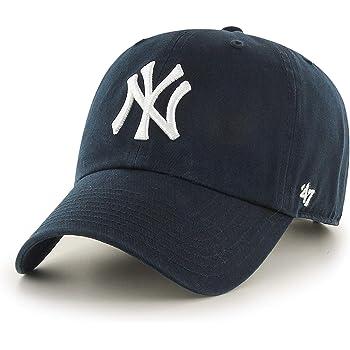 47 Brand- Gorra de Adulto, New York Yankees Clean Up, Azul Marino ...