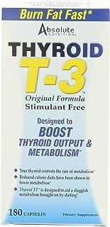 Absolute Nutrition - Thyroid T-3 Original Formula Stimulant Free 180 Capsules 56022