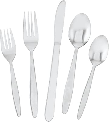 Utica Cutlery Streamline Flatware Set, 40 Piece (Service For Eight), Stainless