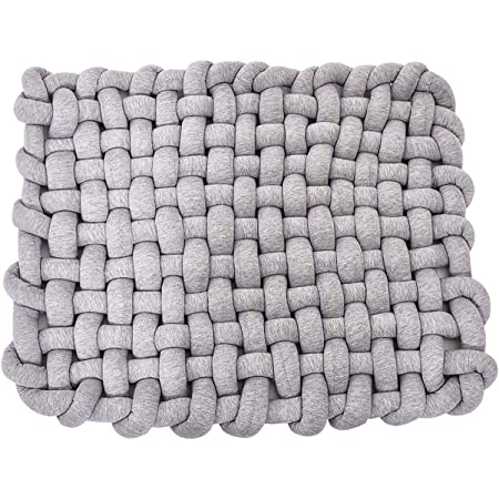 Baby Infant Newborn Sleeping Tummy Time Playing Nursery Rug Knot Floor Cushion Handmade Pure Soft Cotton ldl Wonder Space Knotted Braided Plush Mat Fashion Cute Toddler Children Room Decor